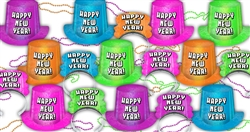 Neon Radiance New Year's Assortment for 100 People | Party Supplies