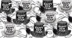 Black & White Flakes New Year's Assortment for 100 People