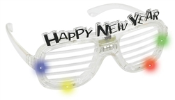 Happy New Year Slotted Glasses | New Year's party supplies