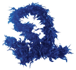 Blue Fancy Feather Boa | Party Supplies