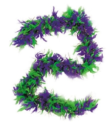 Mardi Gras Fancy Feather Boa | Party Supplies