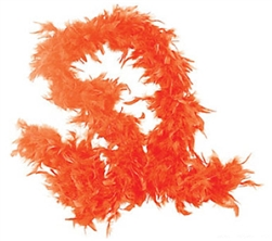Orange Fancy Feather Boa | Party Supplies