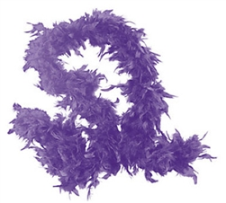 Purple Fancy Feather Boa | Party Supplies