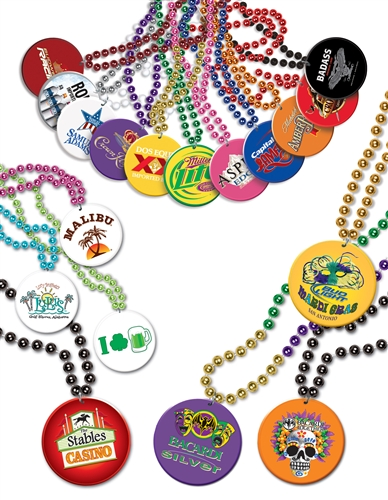 mardi beercap gras fancy with personalized custom beads medallions products necklaces