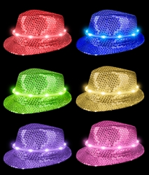 LED Sequin Fedoras | Party Supplies
