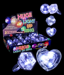 LED Diamond Bling Rings | Party Supplies