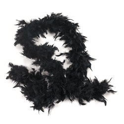 Black Feather Boa | Party Supplies