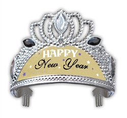 Silver with Gold Crown Tiara | New Year's Eve Party Favors