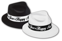 Black & White Fedora Hats | New Year's Eve Party Favors