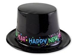 Plastic Neon Hat | New Year's Eve Party Favors