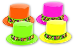 Assorted Neon Plastic Hats
