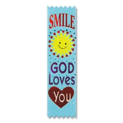 Smile, God Loves You Value Pack Ribbons