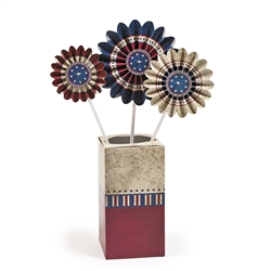 Vintage Patriotic Pinwheel Centerpiece | Party Decorations