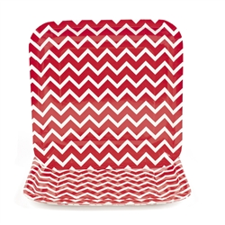 Chevron Red Dinner Plates | Party Supplies