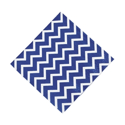 Chevron Blue Lunch Napkin | Party Supplies