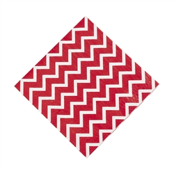 Chevron Red Lunch Napkin | Party Supplies