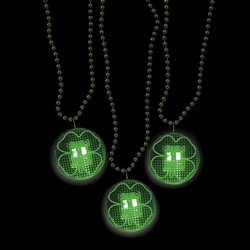 Shamrock Light-Up Necklaces | Party Supplies