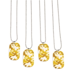 GOLD CAMO DOG TAGS