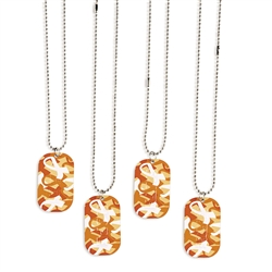 ORANGE CAMO DOG TAGS