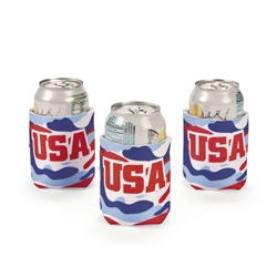 PATRIOTIC CAMO CAN COVERS