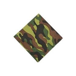 ARMY/CAMO BEVERAGE NAPKINS