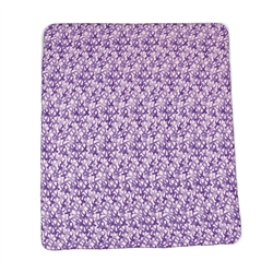CAMO PURPLE RIBBON FLEECE THROW