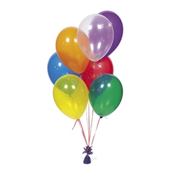 "11"" Assorted Crystal Tone Balloons 
