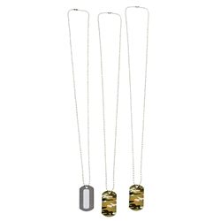 Camo Personalizable Dog Tag Necklaces