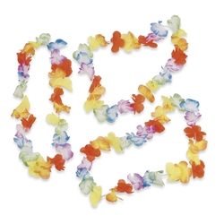 Bright Jumbo Flower Leis | Party Favors