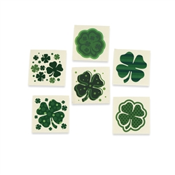 Shamrock Patterned Tattoos | St. Patrick's Day Party Favors