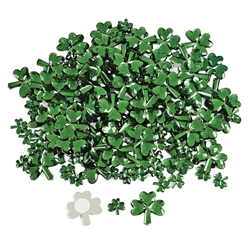 Adhesive Back Shamrock Jewels | St. Patrick's Day Decorations