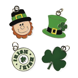 St. Patrick's Day Enamel Charms | Irish Party Favors
