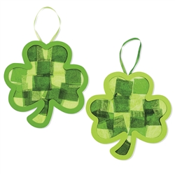 Tissue Paper and Acetate Shamrock Craft | St. Patrick's Day Party Activities