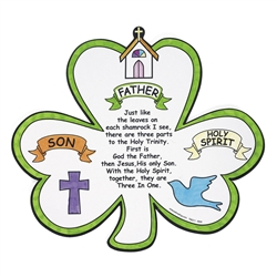Color Your Own Shamrock Trinity Cutout | St. Patrick's Day Activities