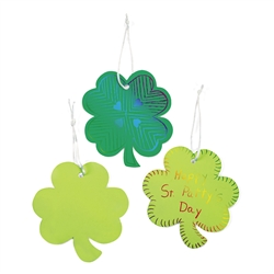 Green Magic Scratch Shamrock Ornaments | St. Patrick's Day Party Supplies