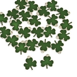 Lucky Shamrock Enamel Charms | St. Patrick's Day Party Supplies