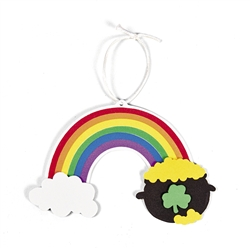 St. Patrick's Day Rainbow Ornament Craft Kit | Pot of Gold Decorations