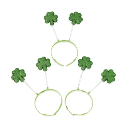 Glitter Shamrock Head Boppers  | Party Supplies