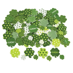 Fabulous Foam Adhesive Shamrock Shapes | Party Supplies