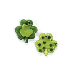 Shamrock Fused Glass Charms | Party Supplies