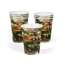 CAMOUFLAGE/ARMY 9OZ CUPS (8PC)