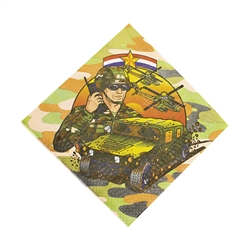 CAMOUFLAGE/ARMY LUNCHEON NAPKINS (16 PC)