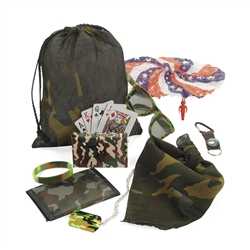 CAMO/ARMY FILLED TREAT BAG (8 PC)