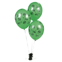 CAMO/ARMY LATEX BALLOONS (25PC)