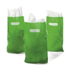 Green Plastic Bags (50pc) | Party Supplies