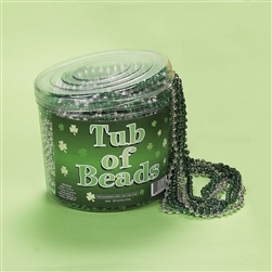 Plastic St. Pat's Tub of Beads | Irish Party Favors