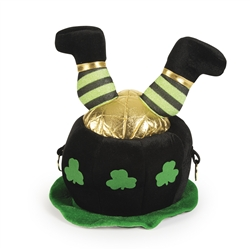 Pot of Gold Hat with Leprechaun Legs