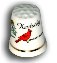 Kentucky Ceramic Thimble | Kentucky Derby Party Supplies