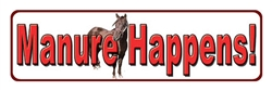 Manure Happens Tin Sign | Kentucky Derby Party Supplies
