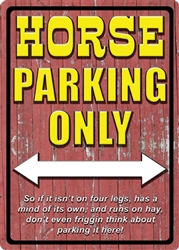 Horse Parking Sign | Kentucky Derby Party Decorations